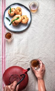Gluten free savoury snacks paired with tea. Light and flaky free from gluten for teatime snacks.