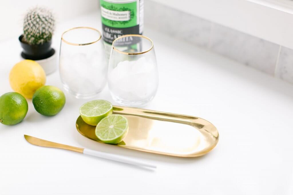 Non-alcoholic or totally boozey tea cocktails with lots of limes and lemons.  Using Empa-Tea a herbal infusion for your cocktail hour